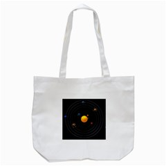 Solar System Tote Bag (white) by Sapixe
