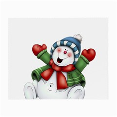Snowman With Scarf Small Glasses Cloth (2 Side)