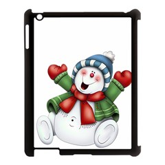Snowman With Scarf Apple Ipad 3/4 Case (black) by Sapixe