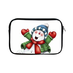 Snowman With Scarf Apple Ipad Mini Zipper Cases by Sapixe