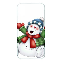 Snowman With Scarf Apple Iphone X Hardshell Case