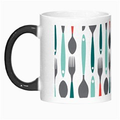 Spoon Fork Knife Pattern Morph Mugs by Sapixe