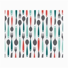 Spoon Fork Knife Pattern Small Glasses Cloth (2 Side) by Sapixe