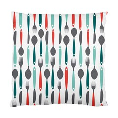 Spoon Fork Knife Pattern Standard Cushion Case (two Sides) by Sapixe