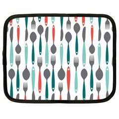 Spoon Fork Knife Pattern Netbook Case (xl)  by Sapixe