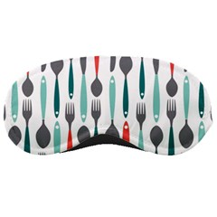 Spoon Fork Knife Pattern Sleeping Masks by Sapixe