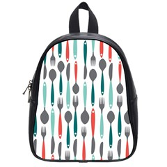 Spoon Fork Knife Pattern School Bag (small) by Sapixe