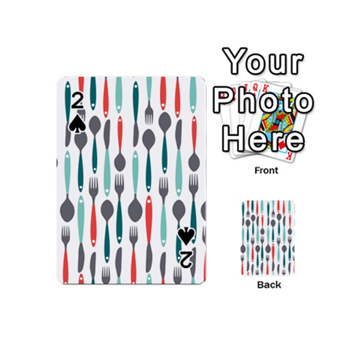 Spoon Fork Knife Pattern Playing Cards 54 (Mini)
