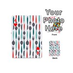 Spoon Fork Knife Pattern Playing Cards 54 (Mini)  Front - Heart4