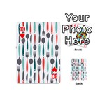 Spoon Fork Knife Pattern Playing Cards 54 (Mini)  Front - Heart10