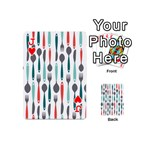 Spoon Fork Knife Pattern Playing Cards 54 (Mini)  Front - HeartJ