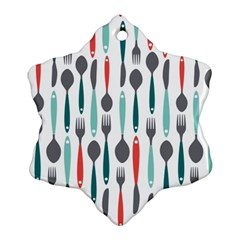 Spoon Fork Knife Pattern Ornament (snowflake) by Sapixe