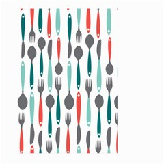 Spoon Fork Knife Pattern Large Garden Flag (two Sides) by Sapixe