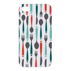 Spoon Fork Knife Pattern Apple Iphone 4/4s Premium Hardshell Case by Sapixe