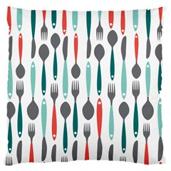 Spoon Fork Knife Pattern Large Cushion Case (one Side) by Sapixe