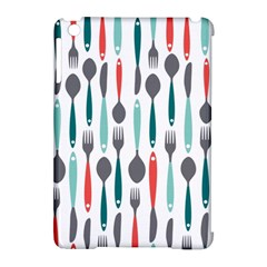 Spoon Fork Knife Pattern Apple Ipad Mini Hardshell Case (compatible With Smart Cover) by Sapixe