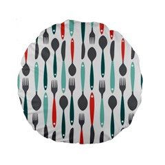 Spoon Fork Knife Pattern Standard 15  Premium Round Cushions by Sapixe
