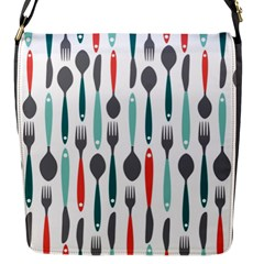 Spoon Fork Knife Pattern Flap Messenger Bag (s) by Sapixe