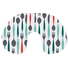 Spoon Fork Knife Pattern Travel Neck Pillows by Sapixe