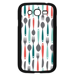 Spoon Fork Knife Pattern Samsung Galaxy Grand Duos I9082 Case (black) by Sapixe