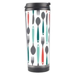 Spoon Fork Knife Pattern Travel Tumbler by Sapixe