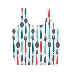 Spoon Fork Knife Pattern Full Print Recycle Bags (m)  by Sapixe