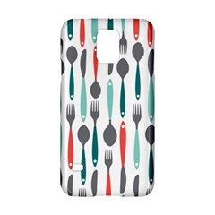 Spoon Fork Knife Pattern Samsung Galaxy S5 Hardshell Case  by Sapixe