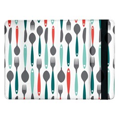 Spoon Fork Knife Pattern Samsung Galaxy Tab Pro 12 2  Flip Case by Sapixe