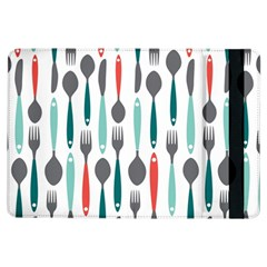Spoon Fork Knife Pattern Ipad Air Flip by Sapixe
