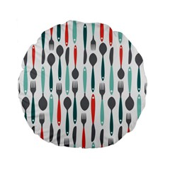 Spoon Fork Knife Pattern Standard 15  Premium Flano Round Cushions by Sapixe