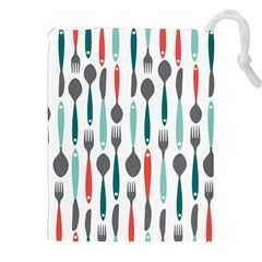 Spoon Fork Knife Pattern Drawstring Pouches (xxl) by Sapixe