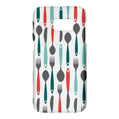 Spoon Fork Knife Pattern Samsung Galaxy S7 Hardshell Case  by Sapixe