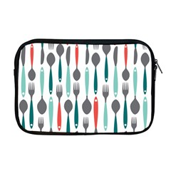 Spoon Fork Knife Pattern Apple Macbook Pro 17  Zipper Case by Sapixe