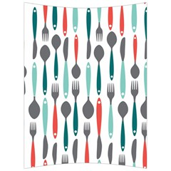 Spoon Fork Knife Pattern Back Support Cushion by Sapixe