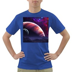 Space Art Nebula Dark T Shirt