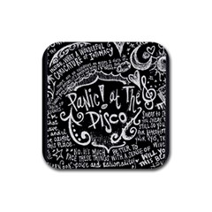 Panic! At The Disco Lyric Quotes Rubber Square Coaster (4 Pack)  by Samandel