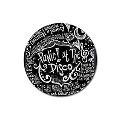 Panic! At The Disco Lyric Quotes Magnet 3  (round) by Samandel
