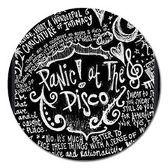 Panic! At The Disco Lyric Quotes Magnet 5  (round) by Samandel