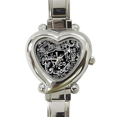 Panic! At The Disco Lyric Quotes Heart Italian Charm Watch by Samandel