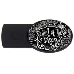 Panic! At The Disco Lyric Quotes Usb Flash Drive Oval (4 Gb) by Samandel
