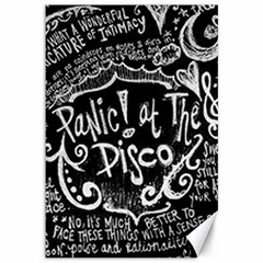 Panic! At The Disco Lyric Quotes Canvas 12  X 18   by Samandel