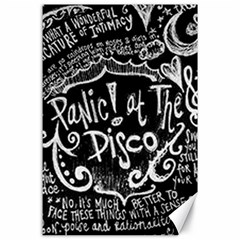 Panic! At The Disco Lyric Quotes Canvas 24  X 36  by Samandel