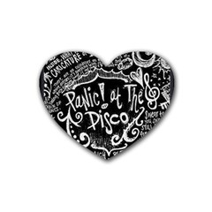 Panic! At The Disco Lyric Quotes Heart Coaster (4 Pack)  by Samandel