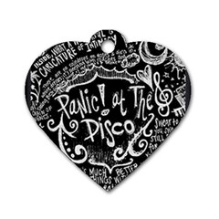 Panic! At The Disco Lyric Quotes Dog Tag Heart (one Side) by Samandel