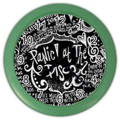 Panic! At The Disco Lyric Quotes Color Wall Clocks by Samandel