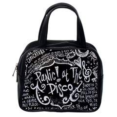 Panic! At The Disco Lyric Quotes Classic Handbags (one Side) by Samandel
