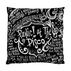 Panic! At The Disco Lyric Quotes Standard Cushion Case (one Side) by Samandel