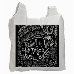 Panic! At The Disco Lyric Quotes Recycle Bag (two Side)  by Samandel