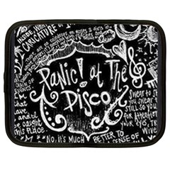Panic! At The Disco Lyric Quotes Netbook Case (xl)  by Samandel