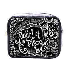 Panic! At The Disco Lyric Quotes Mini Toiletries Bags by Samandel